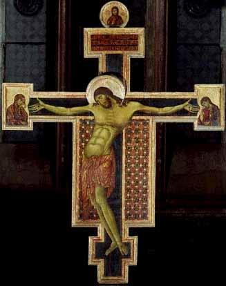 """Cimabue: """"Crucifixo de Santo Domenico"""" (Arezzo c1275)"""