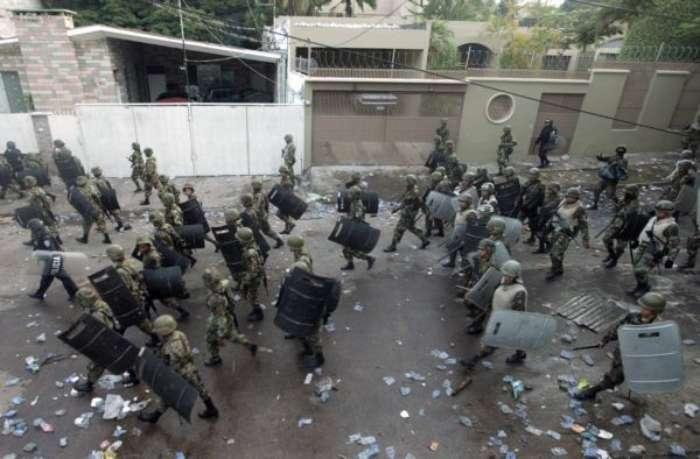 Olha as forças de diálogo democrático dos hondurenhos