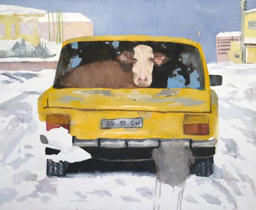 """""""Vaca"""", 2009, óleo sobre tela, 195x236cm"""