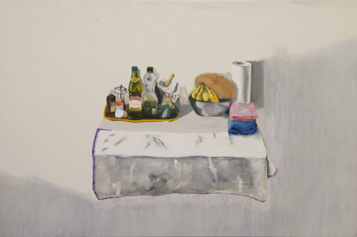 """Mesa"", 2009, óleo sobre tela, 131x196cm"