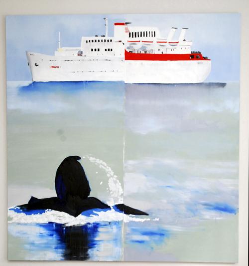 """Revista"", 2008, óleo sobre tela, 180x170cm"